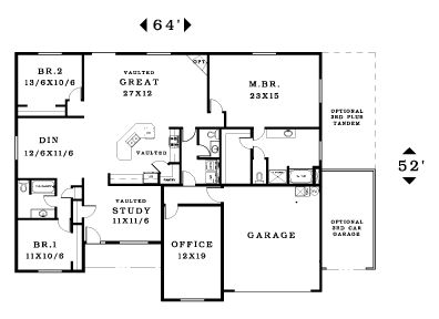 Floor Plans on 1 5 story house plans with bonus room