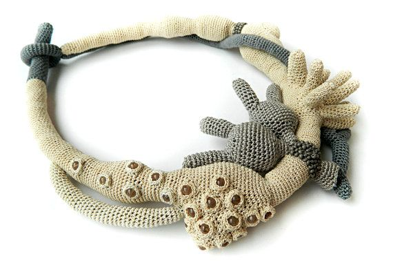 Love Crochet Necklace by LidaAccessories on Etsy