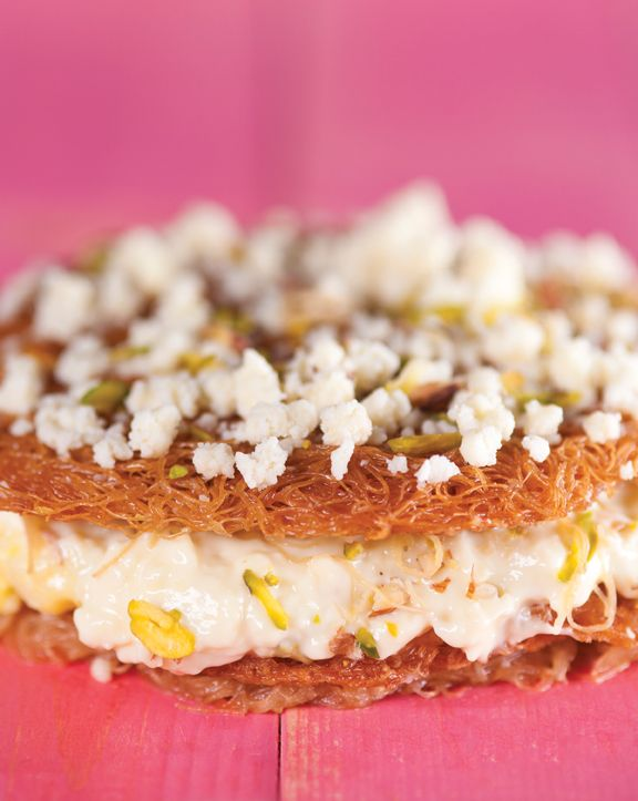 Custard Kunafa Recipe With National Vermicellies, a handful of pistachios, delicate sugar syrup and khoya, it is easy to recreate this Levantine/ Turkish dream. An authentic Kunafa or Kanafeh from Turkey and the Levant Region would use a semi-soft cheese, which in this case has been replaced with the sweet, rich Khoya/Mawa (dried milk). One bite will have you dancing to the darbuka!