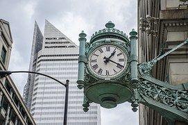 Relógio, Tempo De, Cidade, Construção