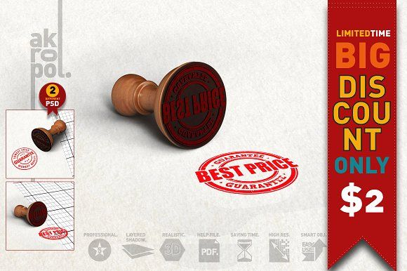 Rubber Stamp Mockup by akropol on @creativemarket