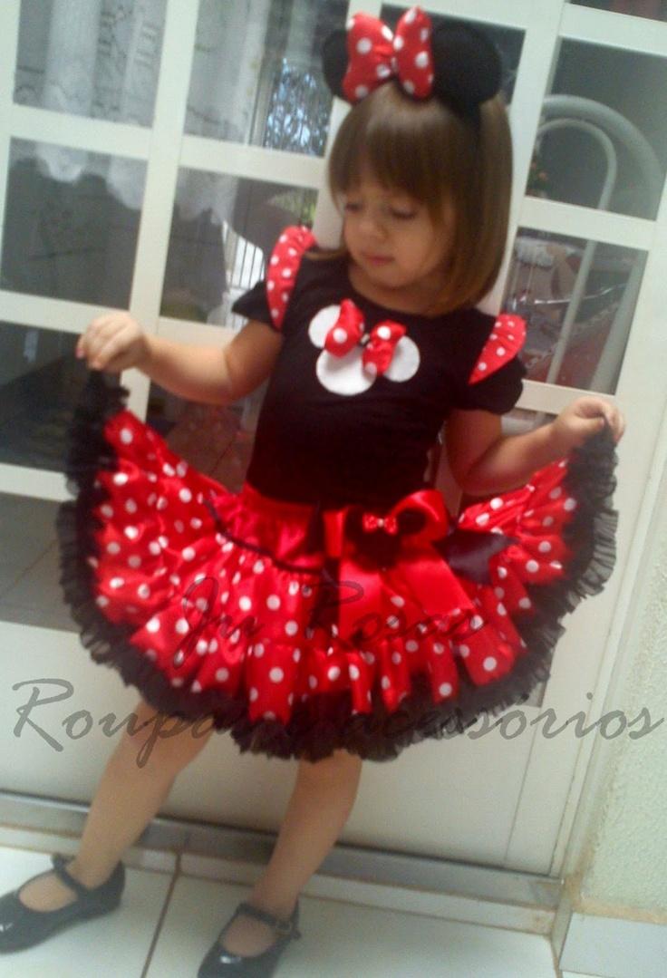 Ju Rosas: Lançamento 2013 Festa Minnie Vermelha tutu frufru