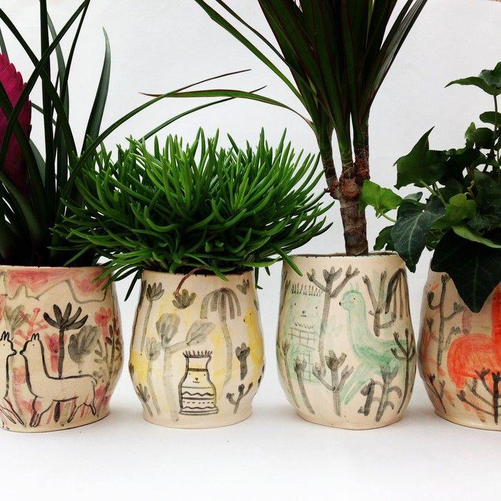 Alex Sickling S Illustrated Ceramics Ohh Deer C E R 225