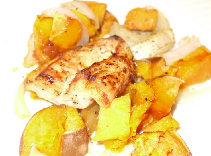 Maple Roasted Chicken and Sweet Potatoes | recipes | Pinterest