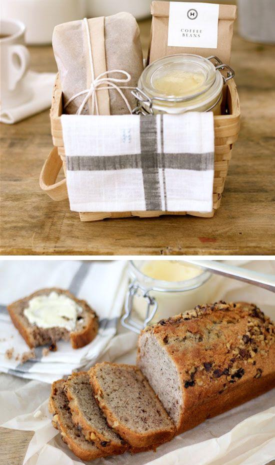 Banana Bread and Honey Butter Breakfast Gift Basket | #inspiredlivingomaha                                                                                                                                                                                 More