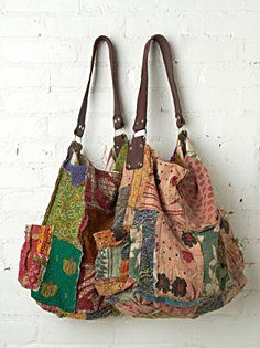 Vintage Kanta Bag in accessories-bags  Patchwork bags go so well with lacy tops and jeans