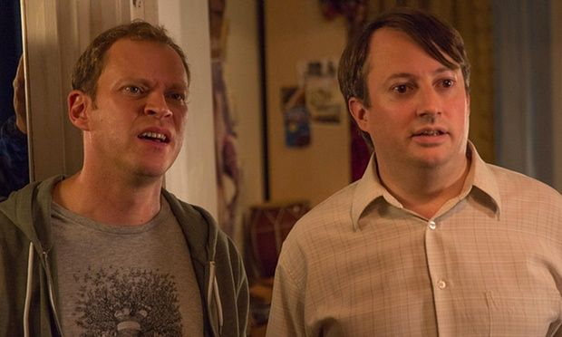 David Mitchell as Mark and Robert Webb as Jeremy in the last episode of Peep Show