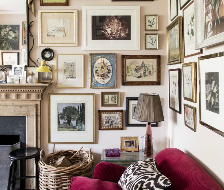 82 best Salon Style Walls images on Pinterest | Gallery wall, Frames ...