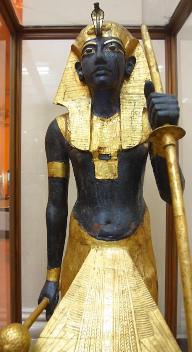 King Tutankhamen. Guardian Ka statue (#22) of the king. It once stood to the right, guarding the entrance to his burial chamber.