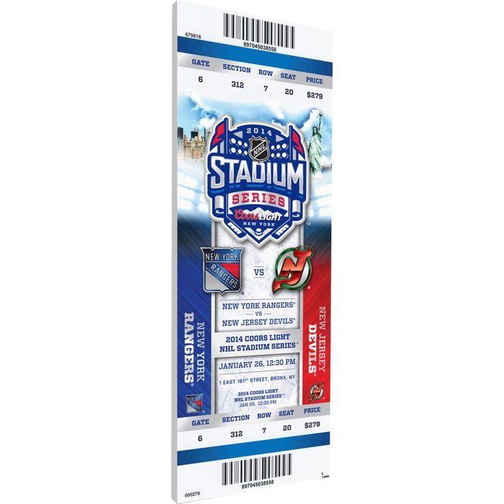 That's My Ticket 2014 Stadium Series New York Rangers v. New Jersey Devils Game Ticket, Team