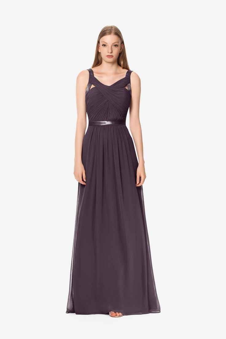 Emily Gown Emily Bridesmaid Gown | Strappy Bridesmaids Dress for your Wedding Party | David Tutera for Gather & Gown