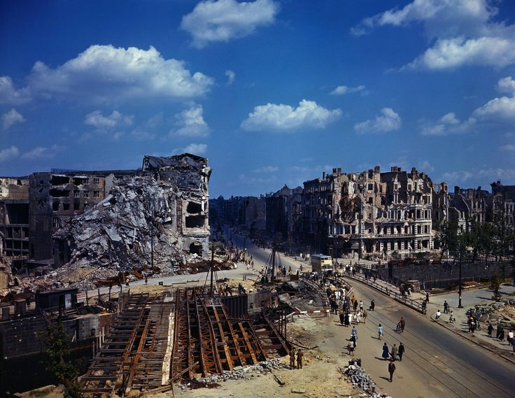 The ruins of Berlin in July 1945