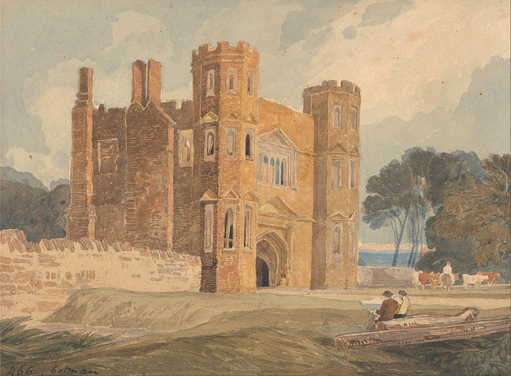 ca 1818 Gate-way, Saint Mary's Wiggenhall, Norfolk   graphite and watercolor