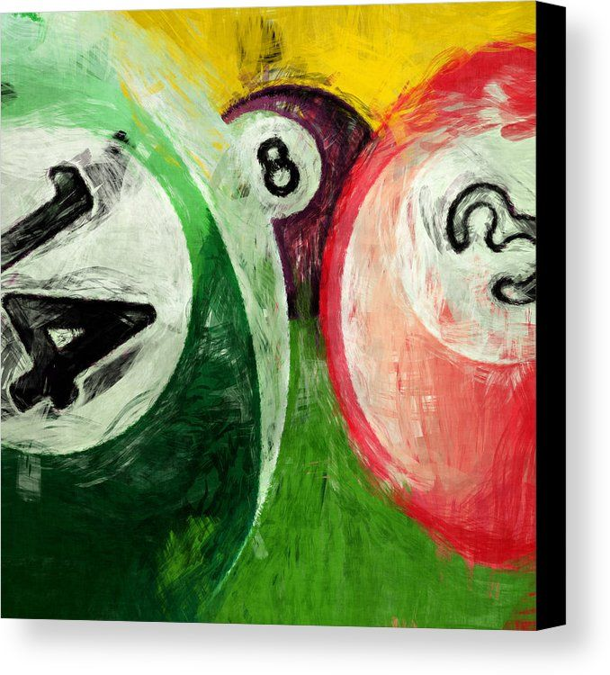Billiards 14 3 8 Canvas Print by David G Paul. All canvas prints are professionally printed, assembled, and shipped within 3 - 4 business days and delivered ready-to-hang on your wall. Choose from multiple print sizes, border colors, and canvas materials.