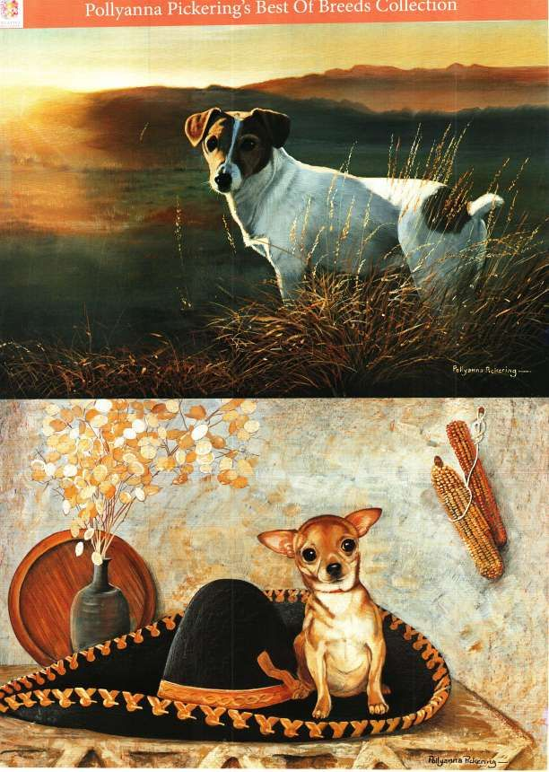 Pollyanna Pickering Best of Breed traditional decoupage - Dogs #7 - jack russell, chihuahua