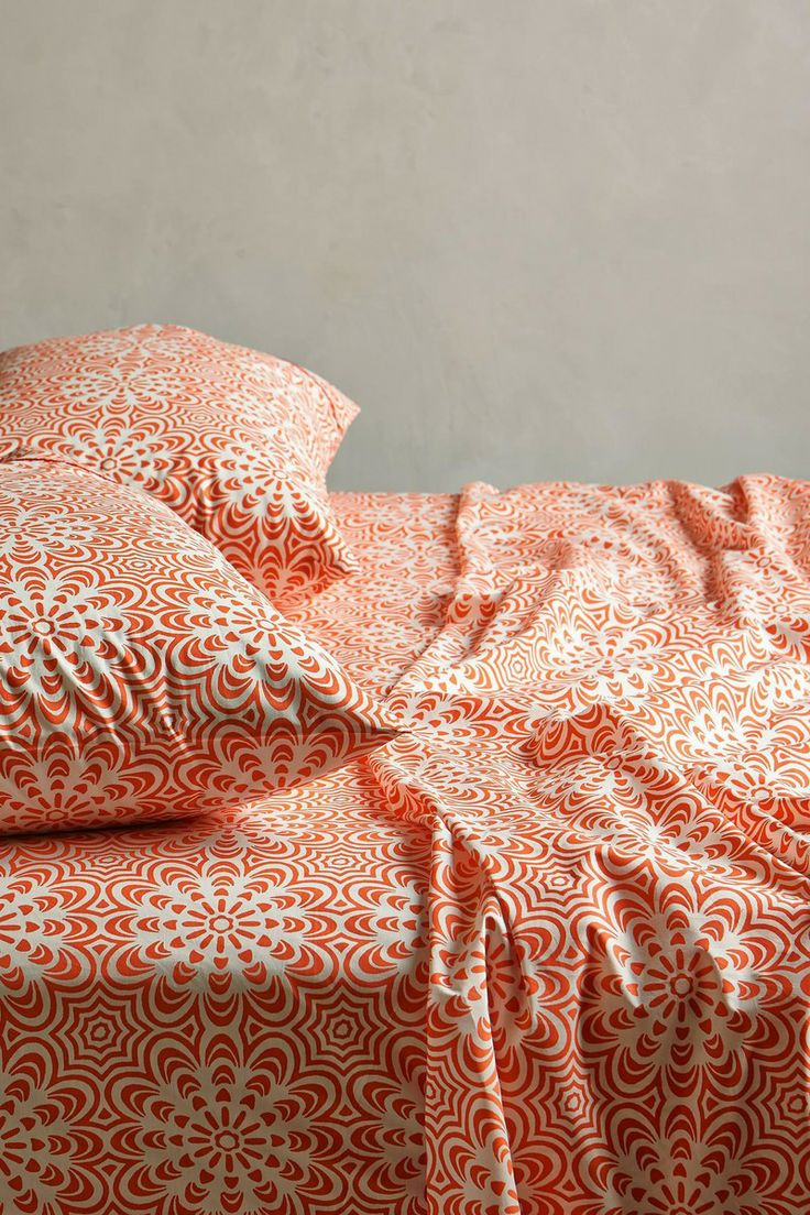 Anthropologie  Geo Flora Sheet Set