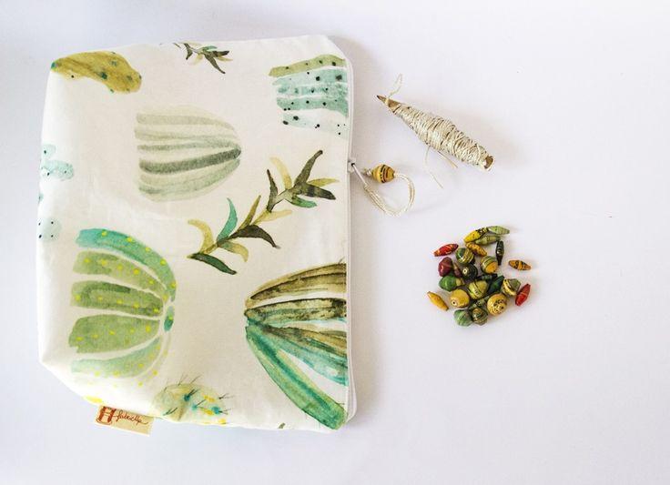 El Vaso - Pochette in cotone realizzata a mano : Astucci di fabricup