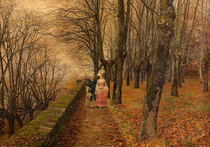 Walk in autumn by Marie-François Firmin-Girard (1838-1921)