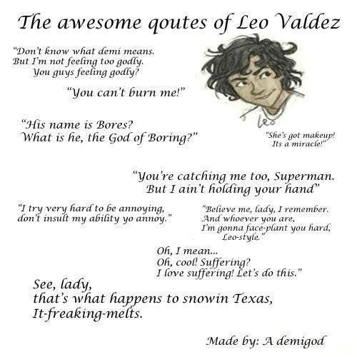 Quotes from Leo Valdez