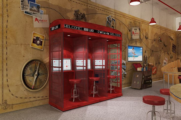 classic phonebooth for digital information