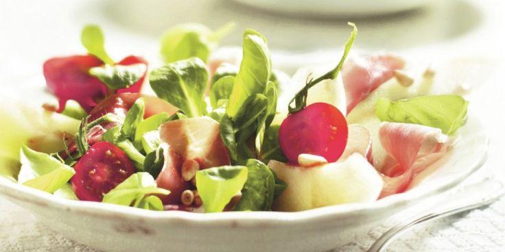 Boodschappen - Meloensalade met parmaham