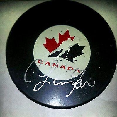 For sale- Curtis Lazar autographed puck.