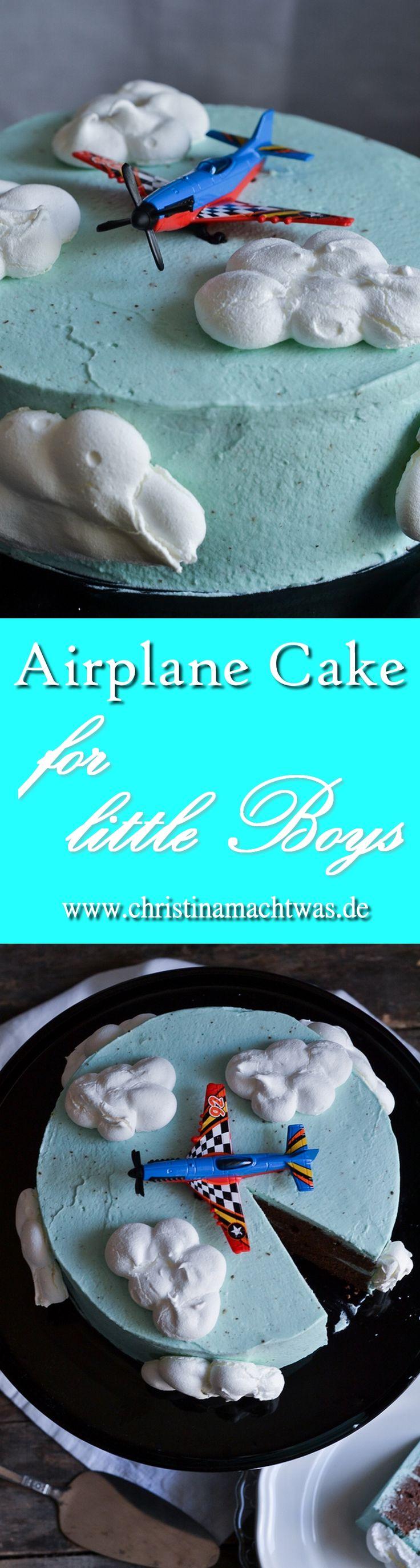 Du suchst eine Inspiration für ein kleines Geburtstagskind? Super! Wie wäre es mit dieser süßen Torte? ---  This Airplane Cake will leave every Kiddo with a smile on his/her Face.