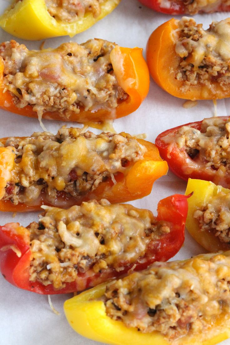 Sub out the carb-laden chips for these nutrient-rich pepper boats!