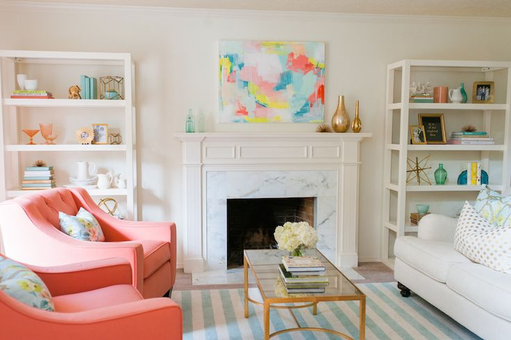 Read More: http://www.stylemepretty.com/living/2014/10/27/whimsical-living-room-full-of-color/