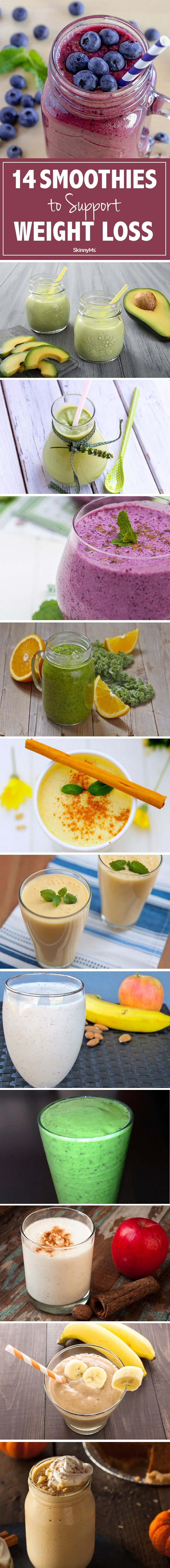 Try these 14 Smoothies to Support Weight Loss!