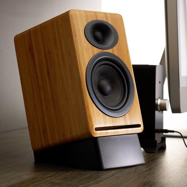 Fancy - Bamboo P4 Passive Bookshelf Speakers by Audioengine