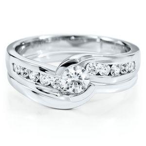 David Bridal Wedding Ring Set