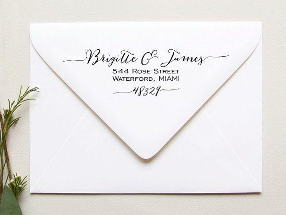 Custom Return Address Stamp Calligraphy Wedding Self Inking Personalised Your Name Stationery Stamper
