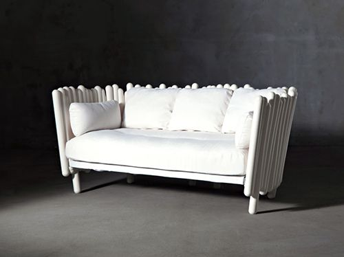 Eclectic Outdoor Sofa. This may be purchased on ecofirstart.com