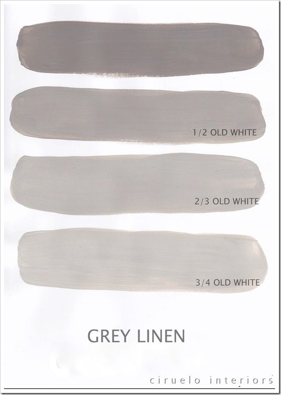 Annie Sloan Chalk Paint - I think this is French Linen in North America with Old white (Annie Sloan Grey Linen)