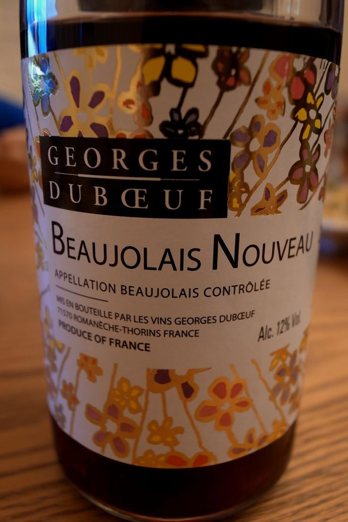 Beaujolais  Nouveau of Georges Duboeuf. very good:-). point 4/5. I drank two bottles of this wine from Nov 15.