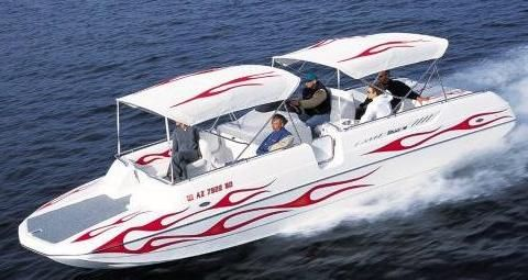 The Hallett 260 Party Cruiser Sport Boat Pontoon is one great all-around family fun boat that provides the room and comfort of a pontoon with the performance and style of a sport boat.