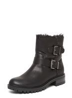 Womens Black 'Aria' Fur Lined Boots- Black