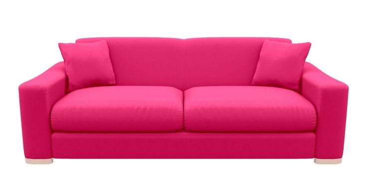 £2300 Pink Extra Large 4 Seater Sofa Napoli Fuchsia