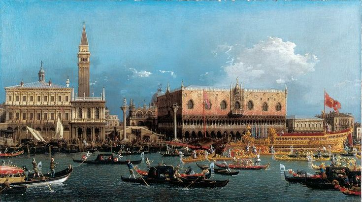 Giovanni Antonio Canal, called Canaletto (1697–1768) The Bucintoro Returning to the Molo on Ascension Day 1760 Oil on canvas 58.3 x 101.8 cm Dulwich Picture Gallery