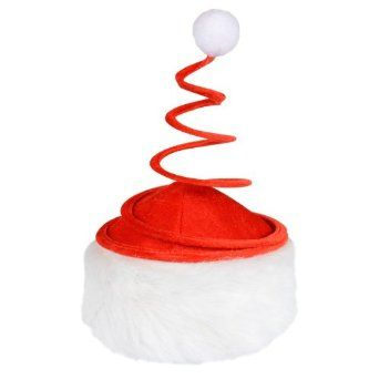 Red Plush Spring Christmas Festive Xmas Novelty Santa Hat With Fluffy White Trim: Amazon.co.uk: Toys & Games £4.99  Char