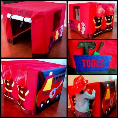 firestation table tent - with instructions. And a link to a much cheaper etsy site!!!