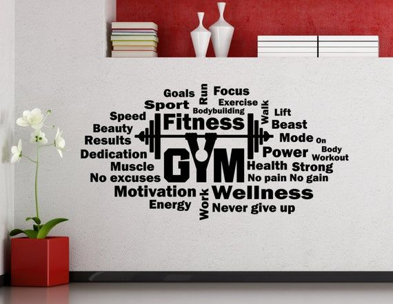 Inspirational Fitness Word Cloud Framed Print Picture Poster Exercise Workout