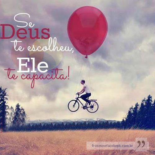 Frases para Facebook - Se Deus te escolheu | Frases com imagens e recados para Facebook