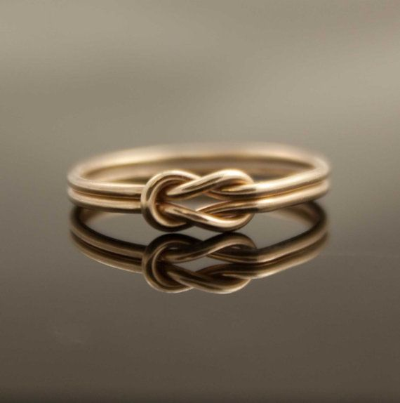 Gold Infinity knot ring. I love how simple and elegant this ring is