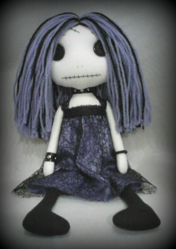 Gothic Art Rag Doll - Kelly