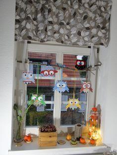 DIY Herbstliche Fensterdekoration