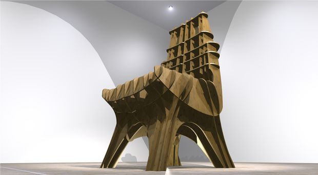 Picture of Charley Chair - how to design a laser cut chair