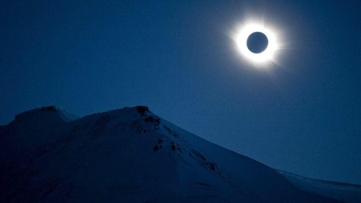"""It wasn't cloudy everywhere for #eclipse2015. This was the spectacular view in Svalbard. """