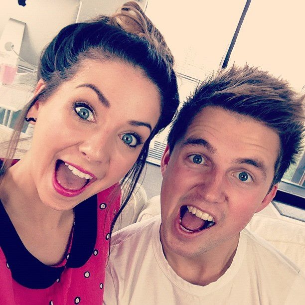 Zoella and Marcus Butler. Love watching Youtube videos with these two together, so so funny :)